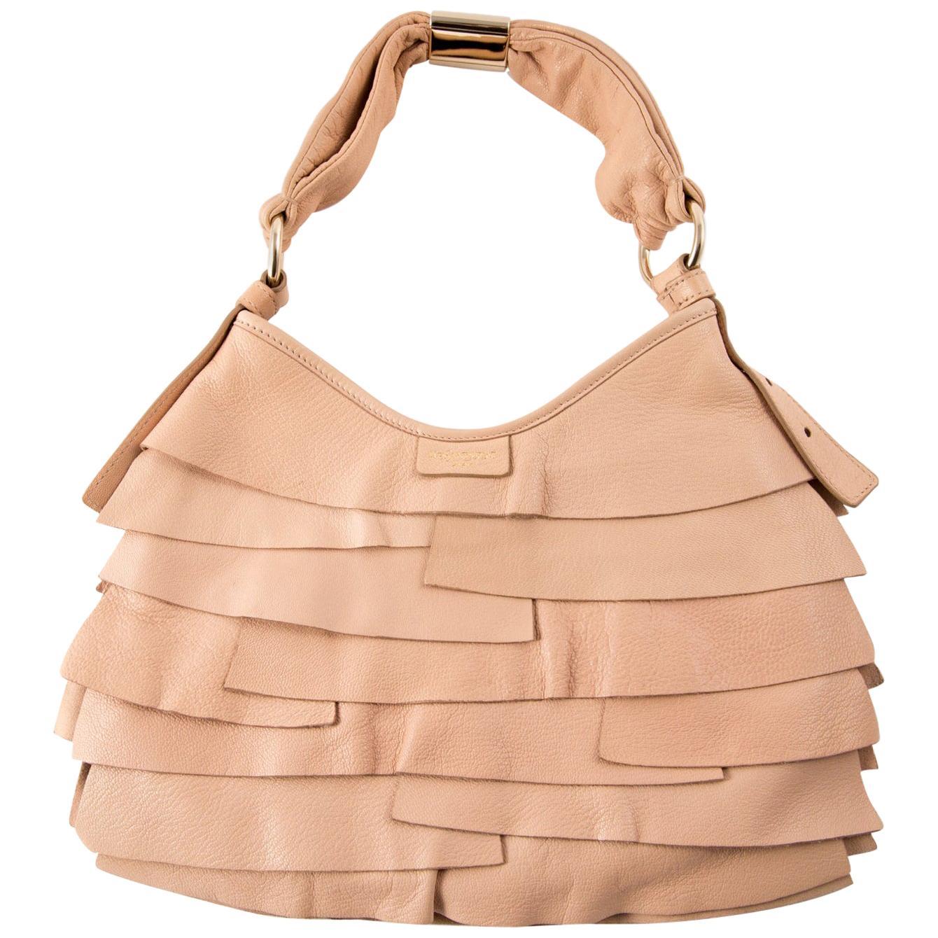 Yves Saint Laurent Pink Leather Saint-Tropez Shoulder Bag