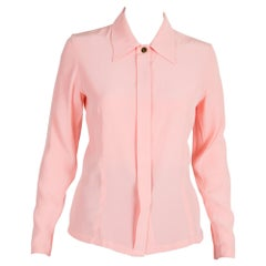Yves Saint Laurent Pink Logo Shirt 1997s