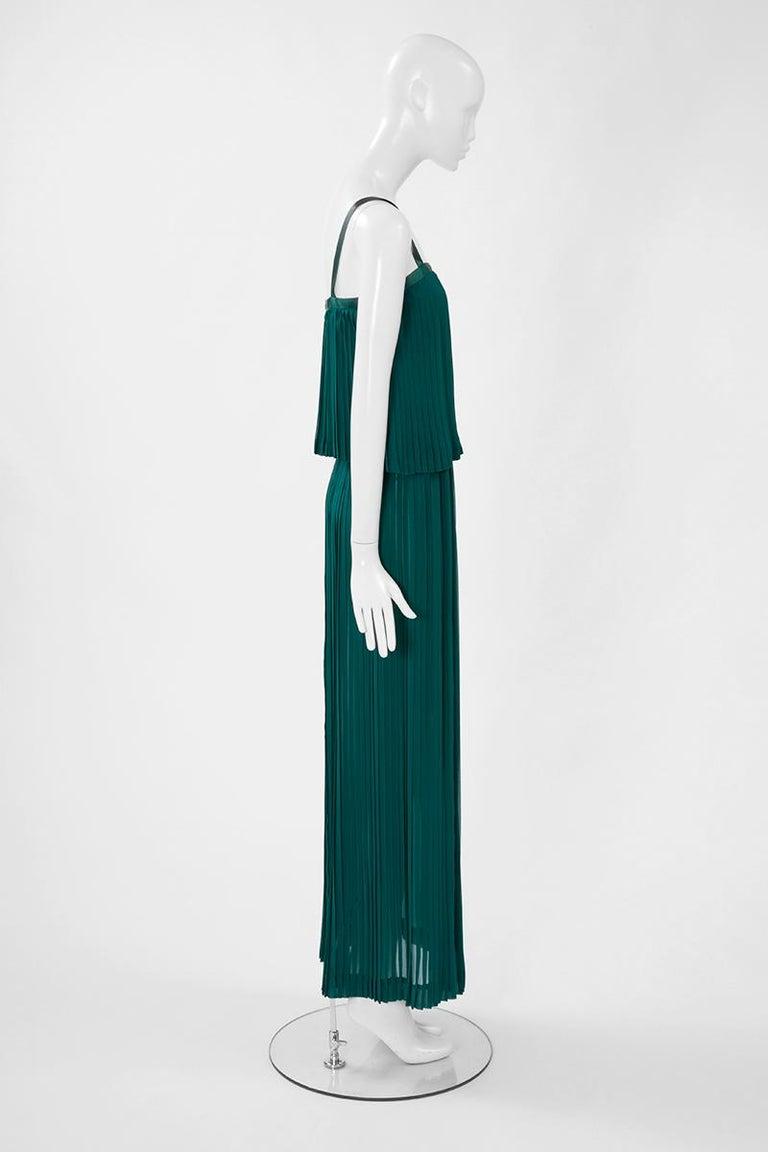 Documented Yves Saint Laurent Pleated Silk Chiffon Ensemble, Spring-Summer 1979 For Sale 5