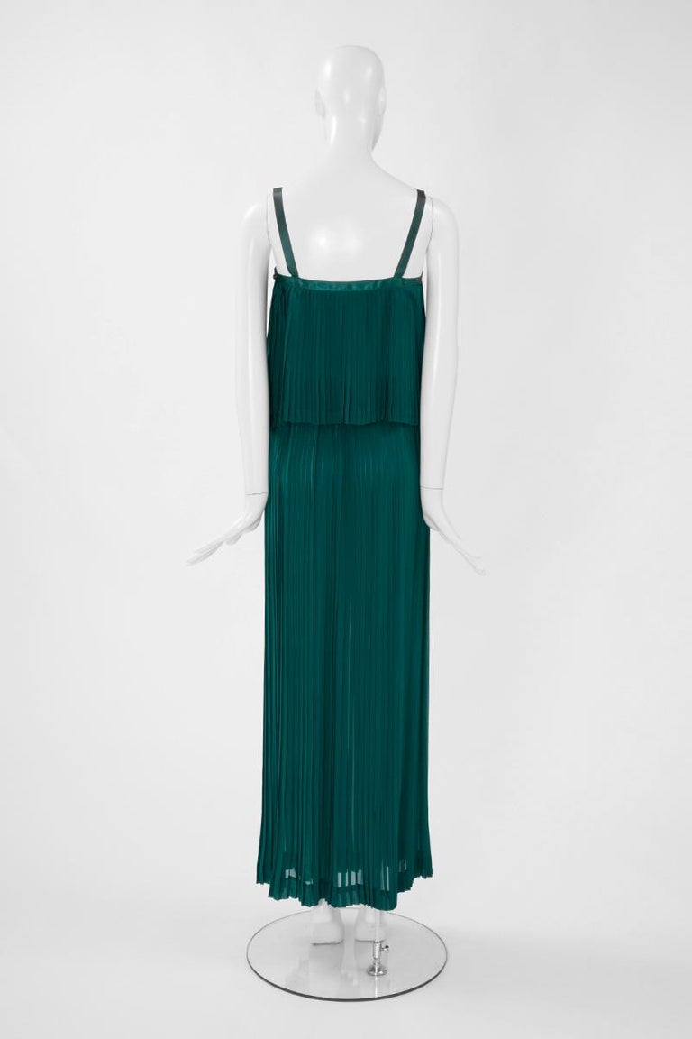 Documented Yves Saint Laurent Pleated Silk Chiffon Ensemble, Spring-Summer 1979 For Sale 6