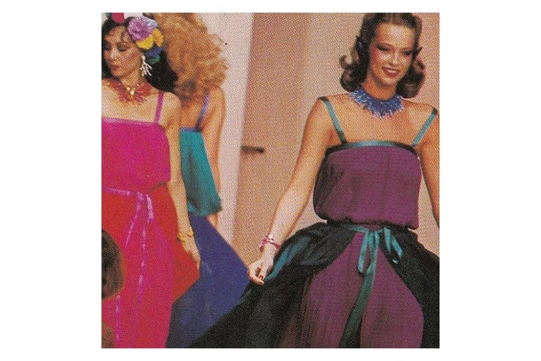Documented Yves Saint Laurent Pleated Silk Chiffon Ensemble, Spring-Summer 1979 For Sale 1