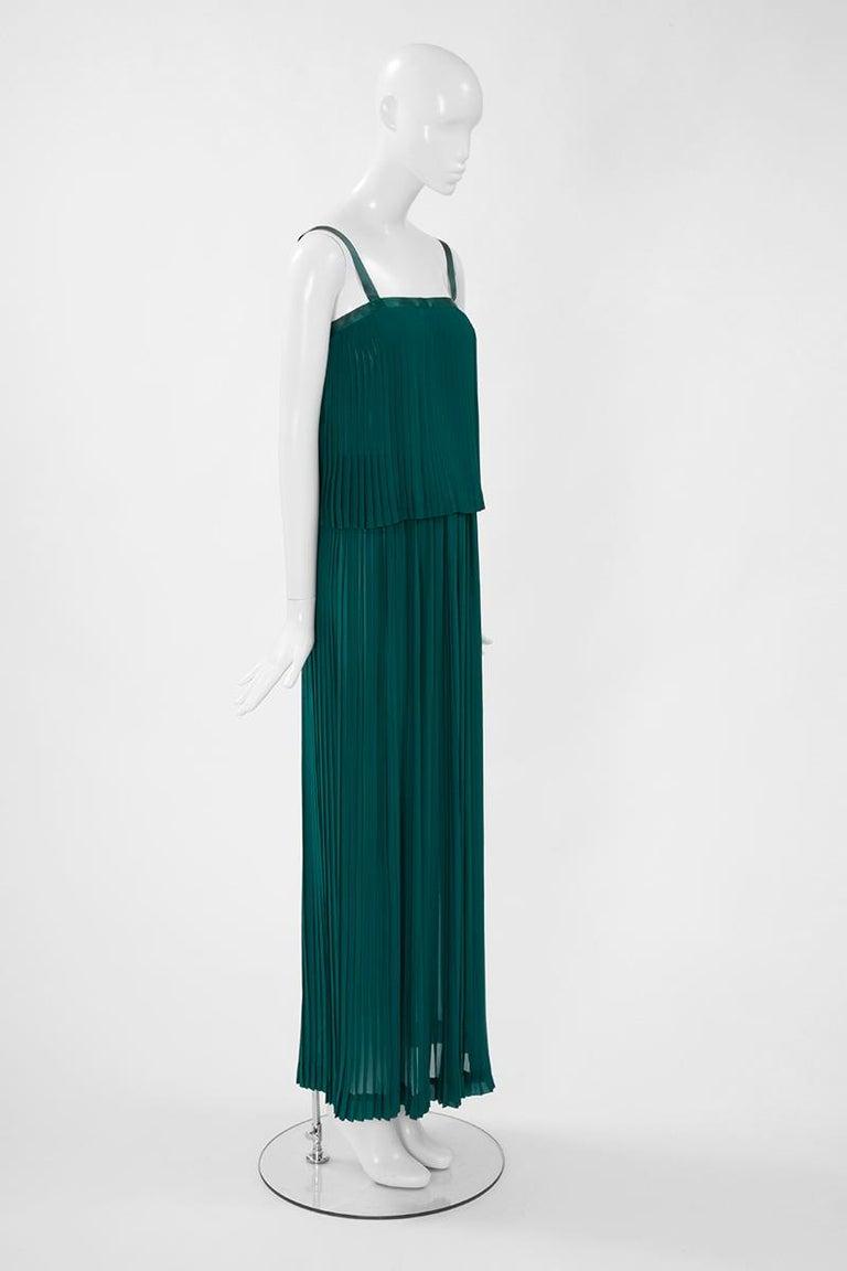 Documented Yves Saint Laurent Pleated Silk Chiffon Ensemble, Spring-Summer 1979 For Sale 2