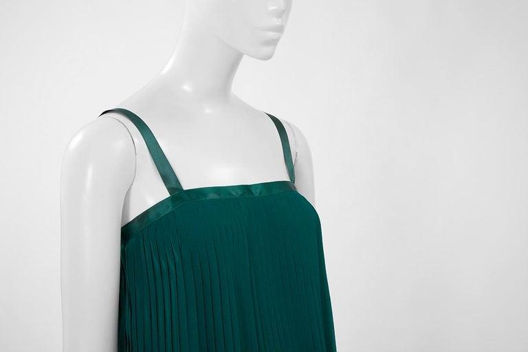 Documented Yves Saint Laurent Pleated Silk Chiffon Ensemble, Spring-Summer 1979 For Sale 3