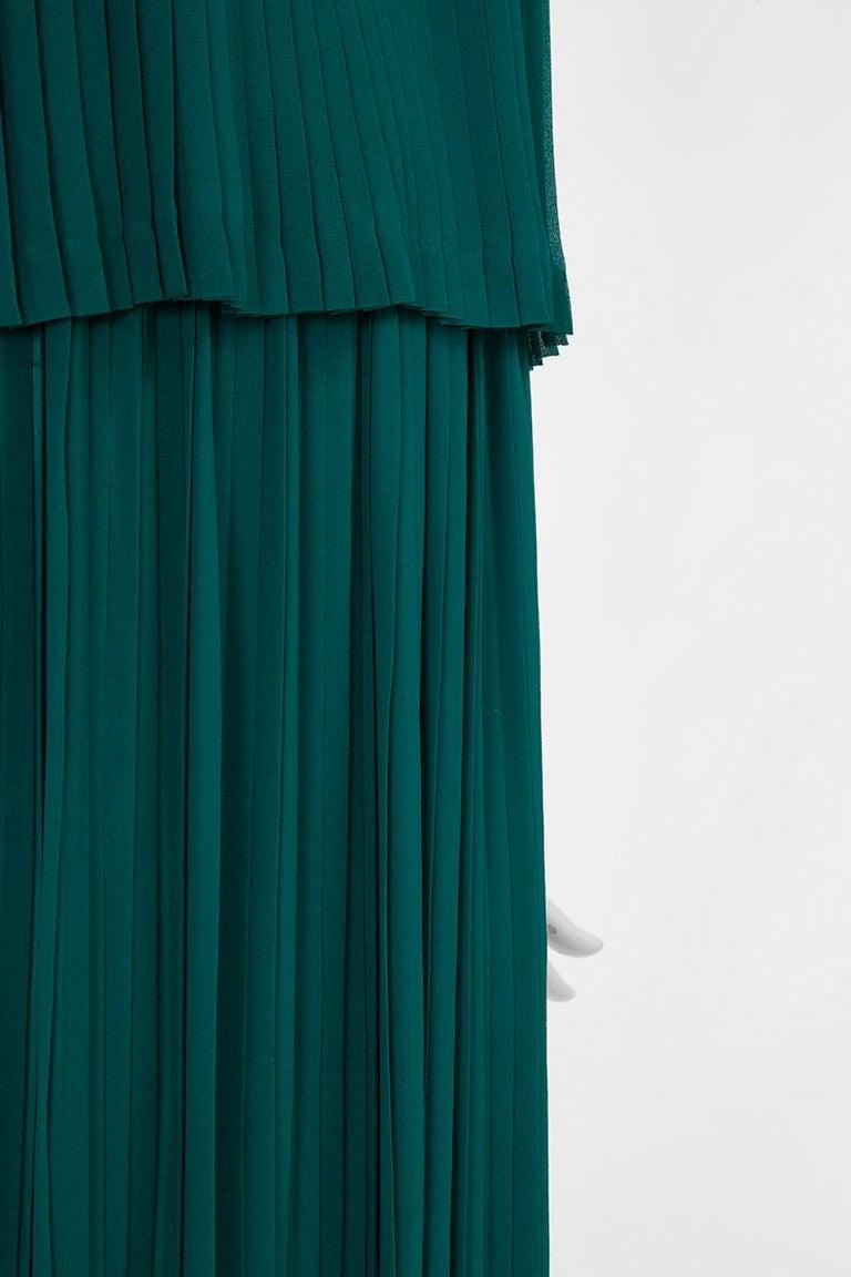 Documented Yves Saint Laurent Pleated Silk Chiffon Ensemble, Spring-Summer 1979 For Sale 4