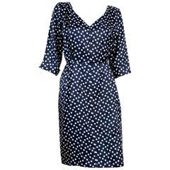 Yves Saint Laurent Polka Dot Silk Dress