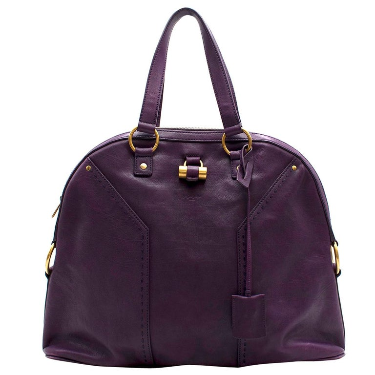 8b4ca28bb Yves Saint Laurent Purple Leather Muse Bag For Sale at 1stdibs