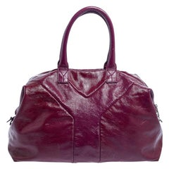 Yves Saint Laurent Purple Patent Leather Easy Tote