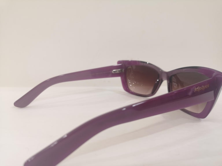 Yves Saint LAurent Purple sunglasses NWOT For Sale 6