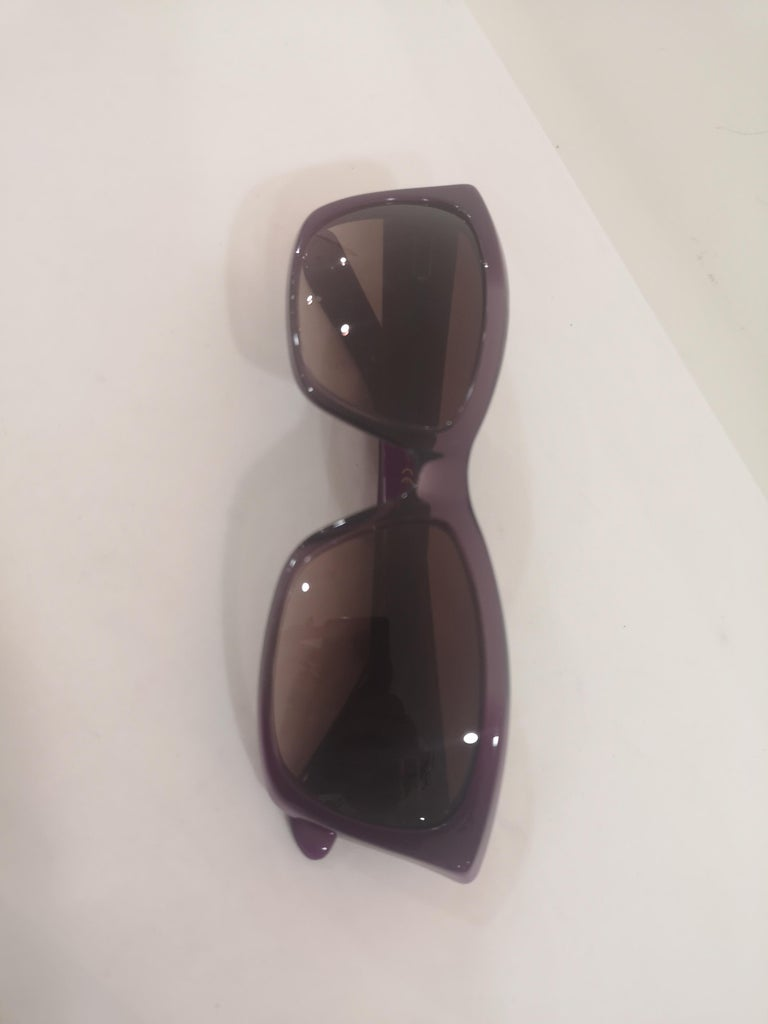 Yves Saint LAurent Purple sunglasses NWOT For Sale 8
