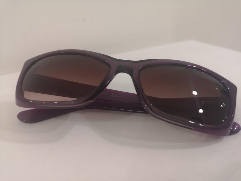 Yves Saint LAurent Purple sunglasses NWOT For Sale 9