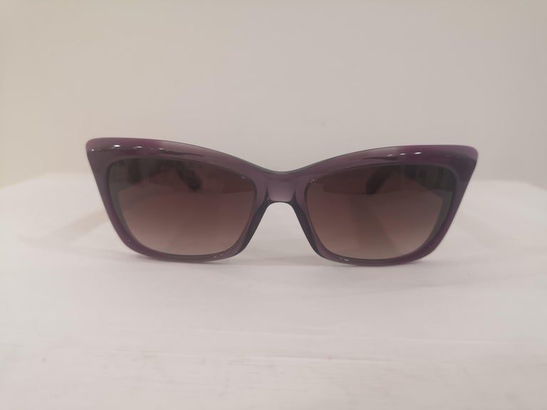 Yves Saint LAurent Purple sunglasses NWOT totally made in italy
