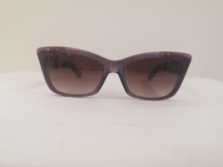 Yves Saint LAurent Purple sunglasses NWOT In New Condition For Sale In Capri, IT