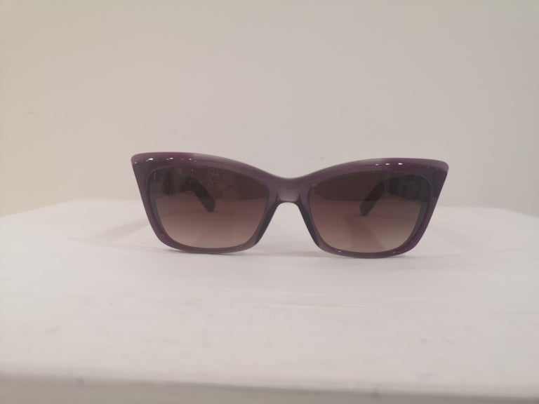 Women's Yves Saint LAurent Purple sunglasses NWOT For Sale