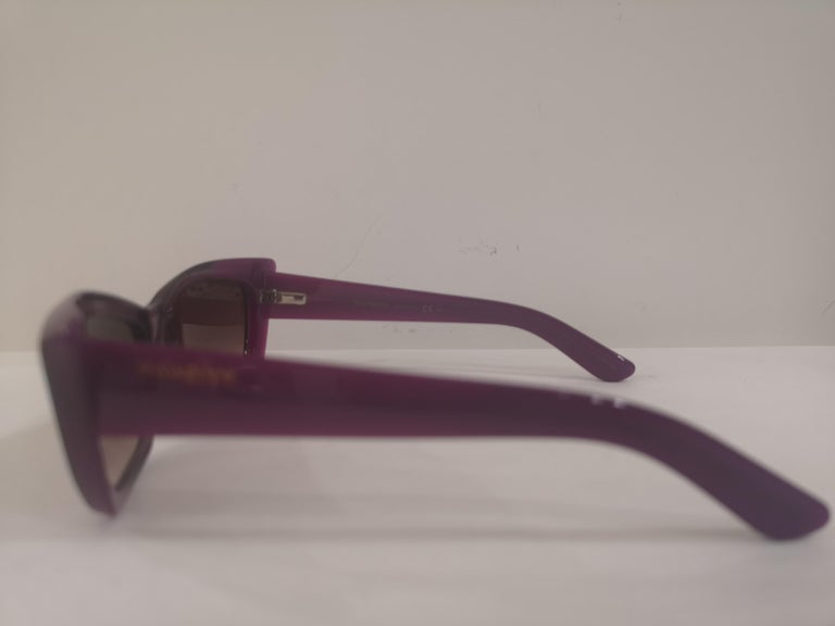Yves Saint LAurent Purple sunglasses NWOT For Sale 2