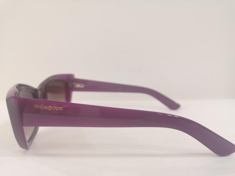 Yves Saint LAurent Purple sunglasses NWOT For Sale 3