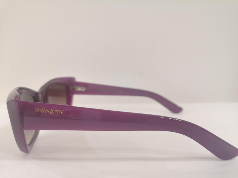 Yves Saint LAurent Purple sunglasses NWOT For Sale 4