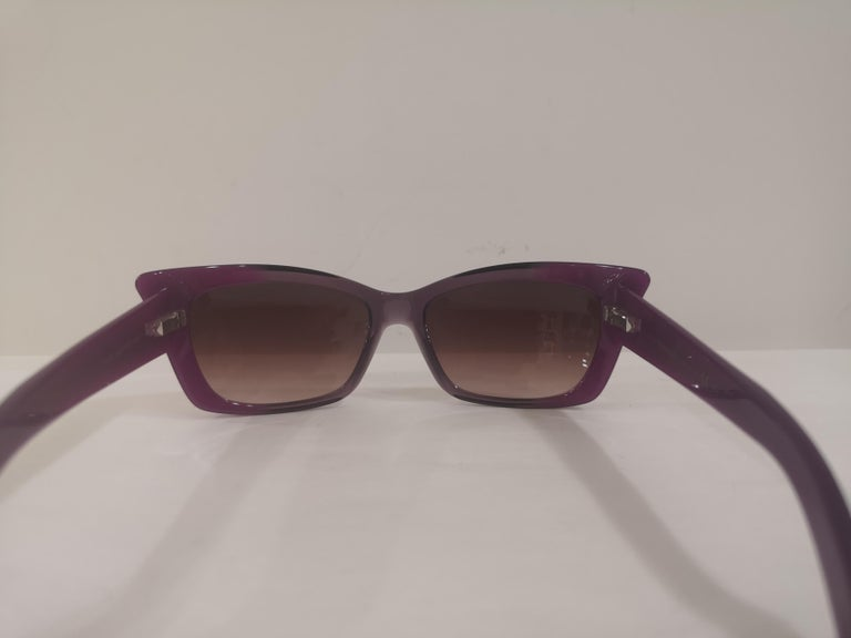 Yves Saint LAurent Purple sunglasses NWOT For Sale 5