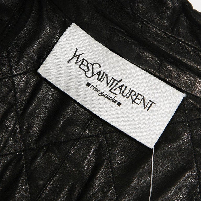 Yves Saint Laurent Quilted Leather Jacket In Good Condition For Sale In Los Angeles, CA