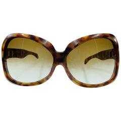 Yves Saint Laurent Rare Vintage 1970's Tortoise Oversized Frames