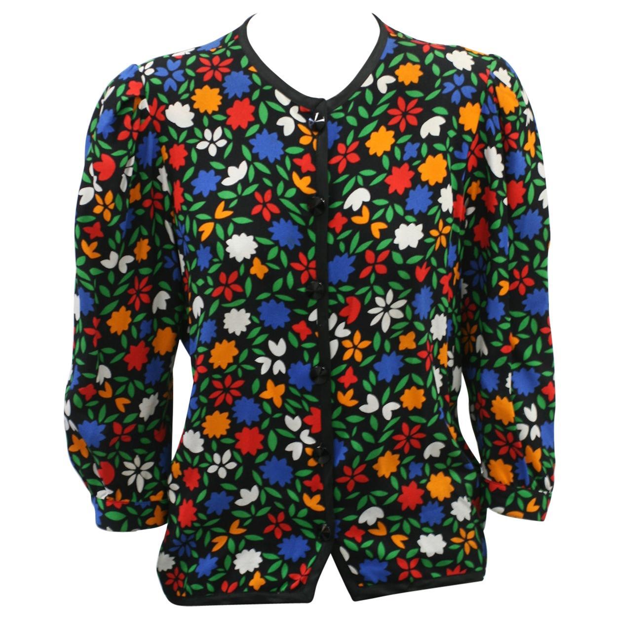 Yves Saint Laurent Rayon Crepe Jacket