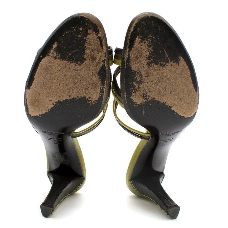 Yves Saint Laurent Red & Green Vintage Sandals SIZE 38 For Sale 3