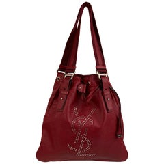 Yves Saint Laurent Red Leather Small Kahala Sac Tote Bag