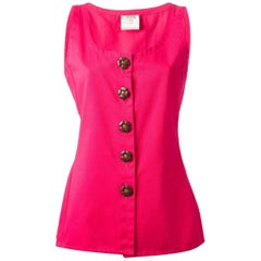 Yves Saint Laurent Red Pink Top