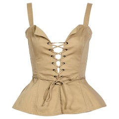 "Yves Saint Laurent ""rive gauche"" 1970s cotton bustier top"