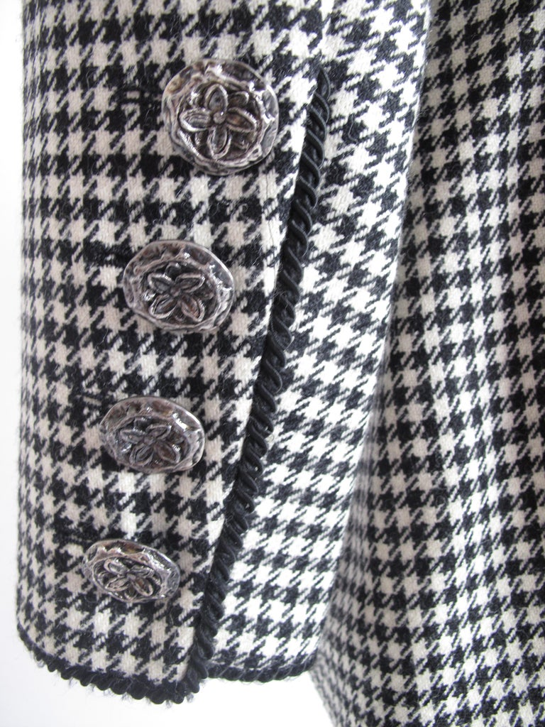 Gray Yves Saint Laurent Rive Gauche 4 Piece Herringbone Suit