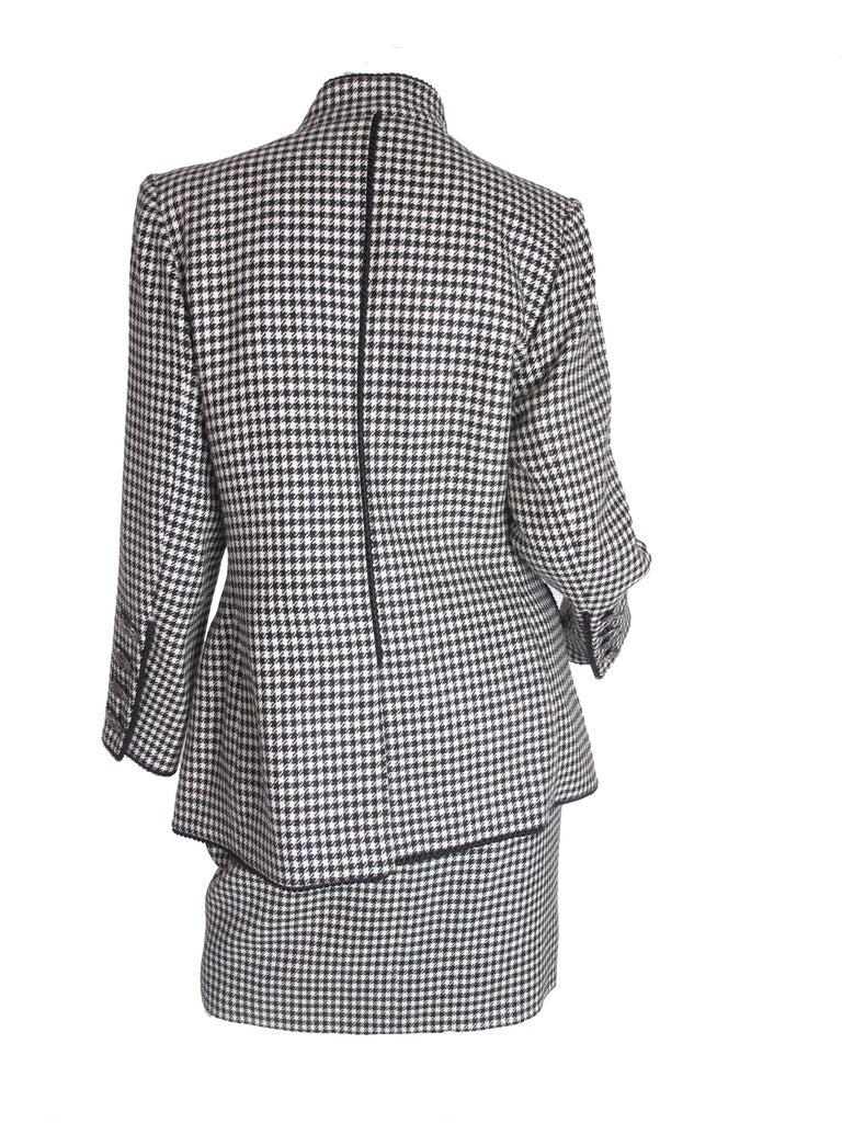Yves Saint Laurent Rive Gauche 4 Piece Herringbone Suit In Excellent Condition In Austin, TX