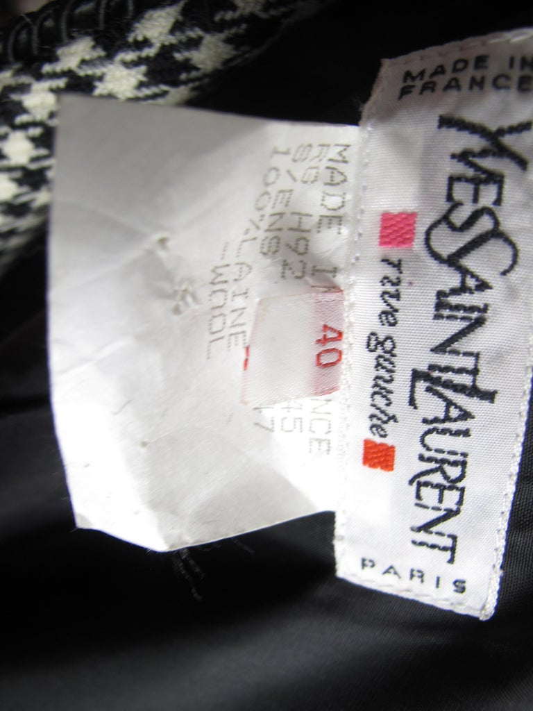Women's or Men's Yves Saint Laurent Rive Gauche 4 Piece Herringbone Suit