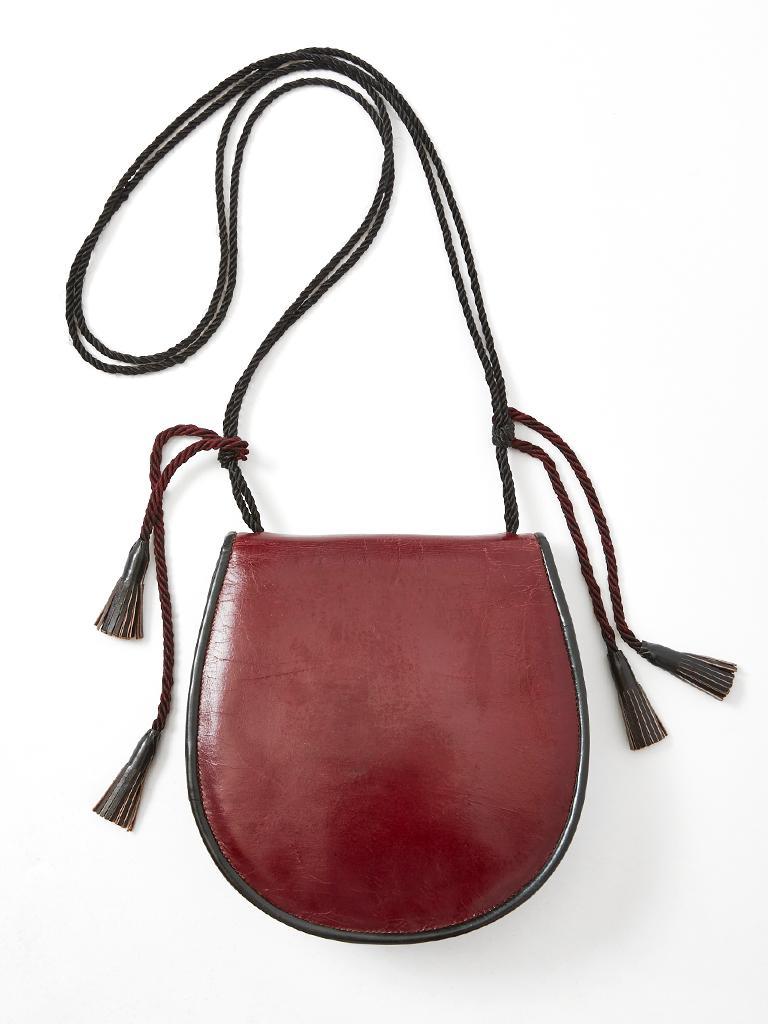 Yves Saint Laurent Rive Gauche 70 S Leather Shoulder Bag