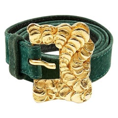 Yves Saint Laurent Rive Gauche Belt Green