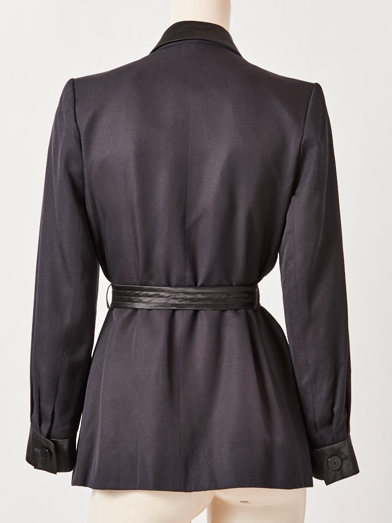 Yves Saint Laurent Rive Gauche Belted Safari Jacket In Good Condition For Sale In New York, NY
