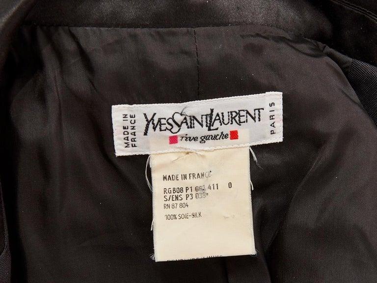 Women's Yves Saint Laurent Rive Gauche Belted Safari Jacket For Sale