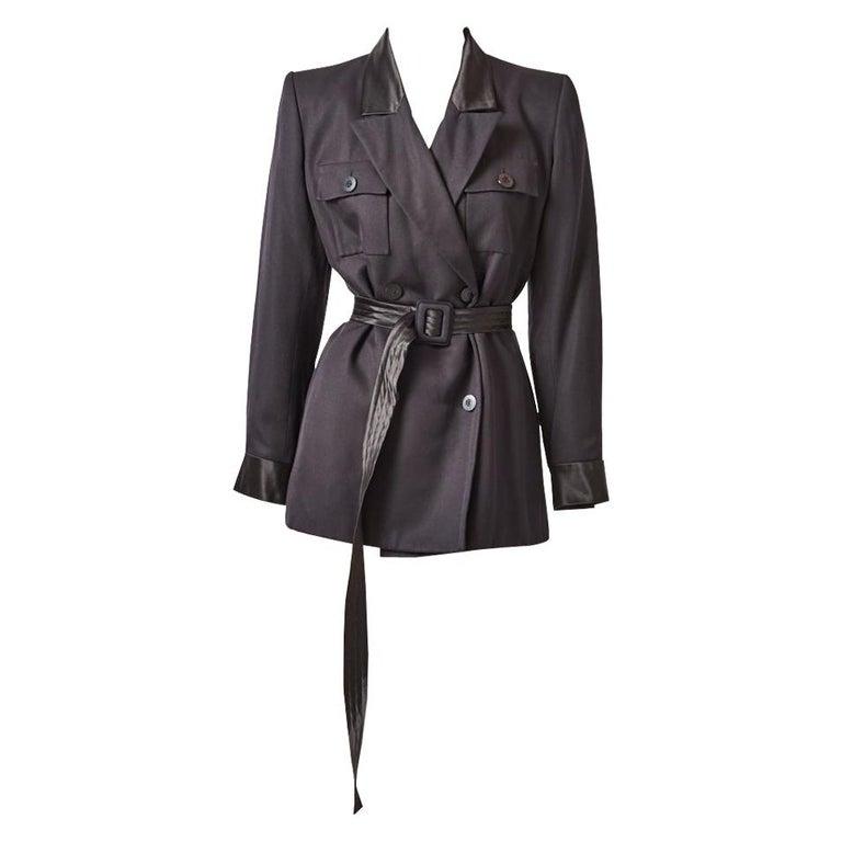 Yves Saint Laurent Rive Gauche Belted Safari Jacket For Sale