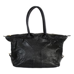 Yves Saint Laurent Rive Gauche Black Leather Easy Y Shopper Bag