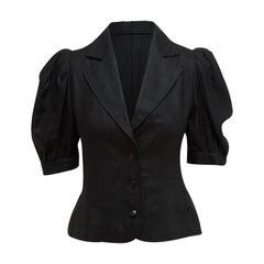 Yves Saint Laurent Rive Gauche Black Short Sleeve Jacket