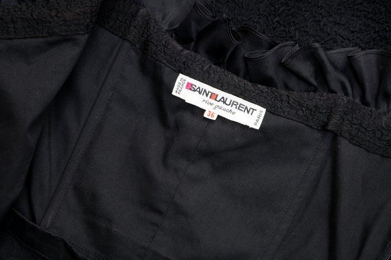 Yves Saint Laurent Rive Gauche Black Silk Strapless Evening Dress, Circa: 1980's For Sale 9