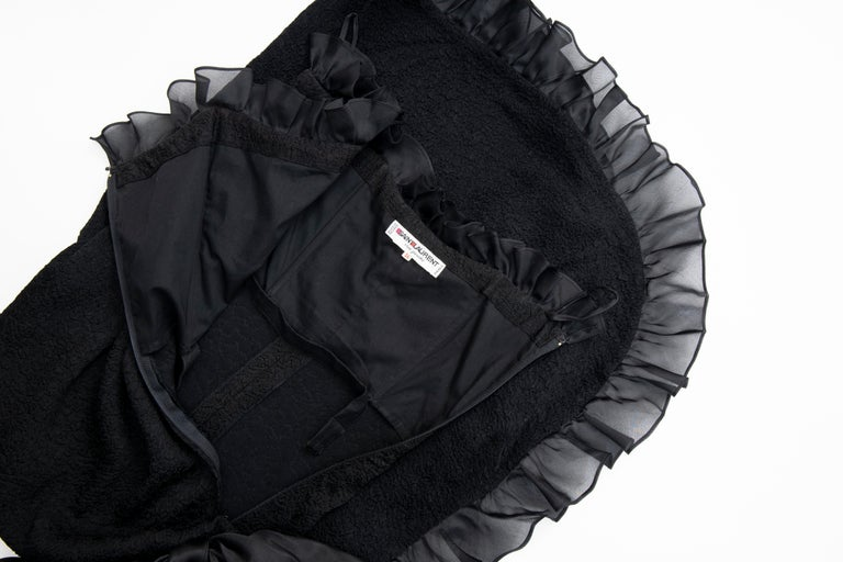Yves Saint Laurent Rive Gauche Black Silk Strapless Evening Dress, Circa: 1980's For Sale 10