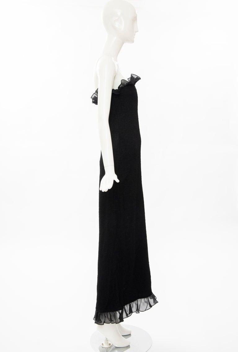 Women's Yves Saint Laurent Rive Gauche Black Silk Strapless Evening Dress, Circa: 1980's For Sale