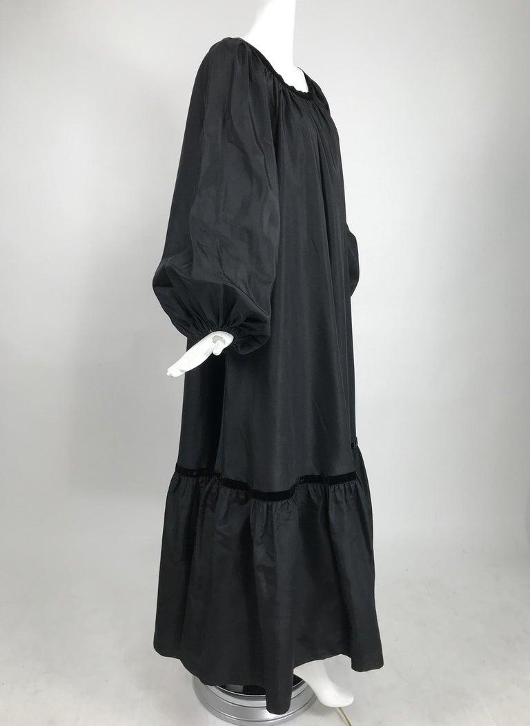 Yves Saint Laurent Rive Gauche Black Silk Taffeta Gown 1970s In Good Condition In West Palm Beach, FL