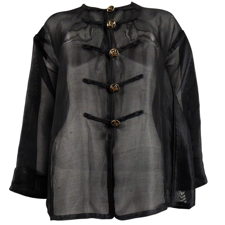 Yves Saint Laurent Rive Gauche Blouse Chinese Collection, Circa 1980 For Sale