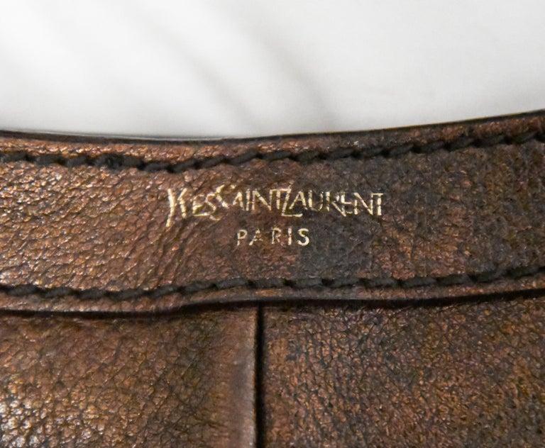 Yves Saint Laurent Rive Gauche Brown Maltese Cross Cabochon  Shoulder Bag For Sale 2