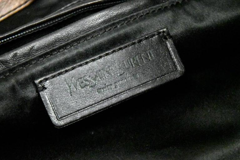 Yves Saint Laurent Rive Gauche Brown Maltese Cross Cabochon  Shoulder Bag For Sale 3
