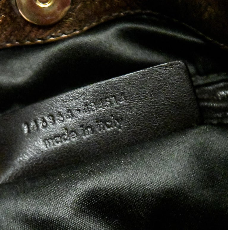 Yves Saint Laurent Rive Gauche Brown Maltese Cross Cabochon  Shoulder Bag For Sale 4