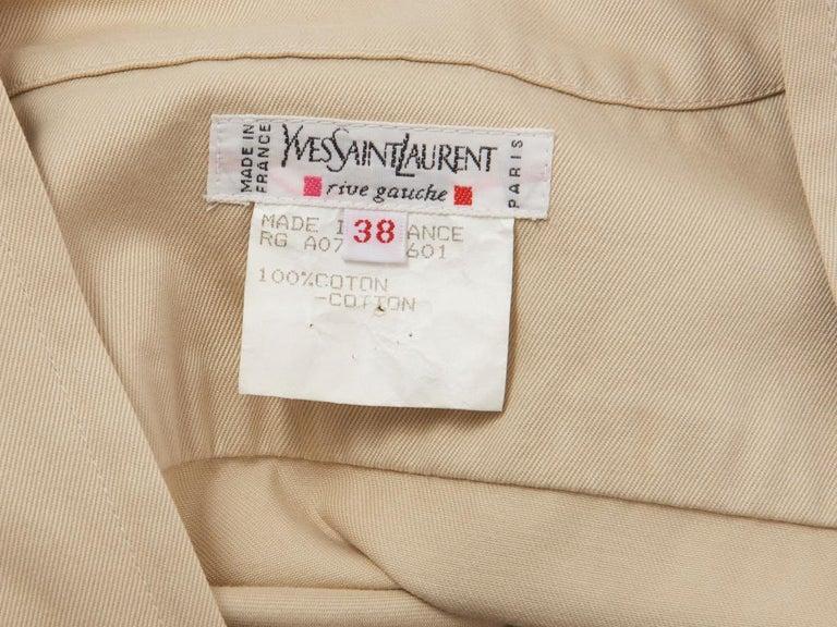 Women's Yves Saint Laurent RIve Gauche Cotton Safari Dress For Sale