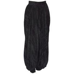 """Yves Saint Laurent """"rive Gauche"""" documented black crushed velvet harem pants"""