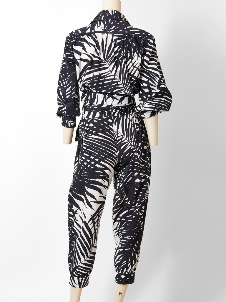 Yves Saint Laurent Rive Gauche Graphic Pattern Ensemble In Good Condition For Sale In New York, NY
