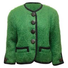 Yves Saint Laurent Rive Gauche Green Mohair Jacket